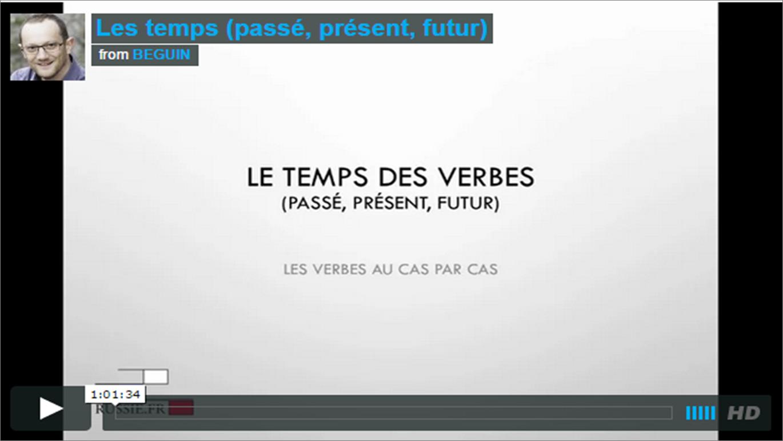 Les temps (passé, présent, futur)